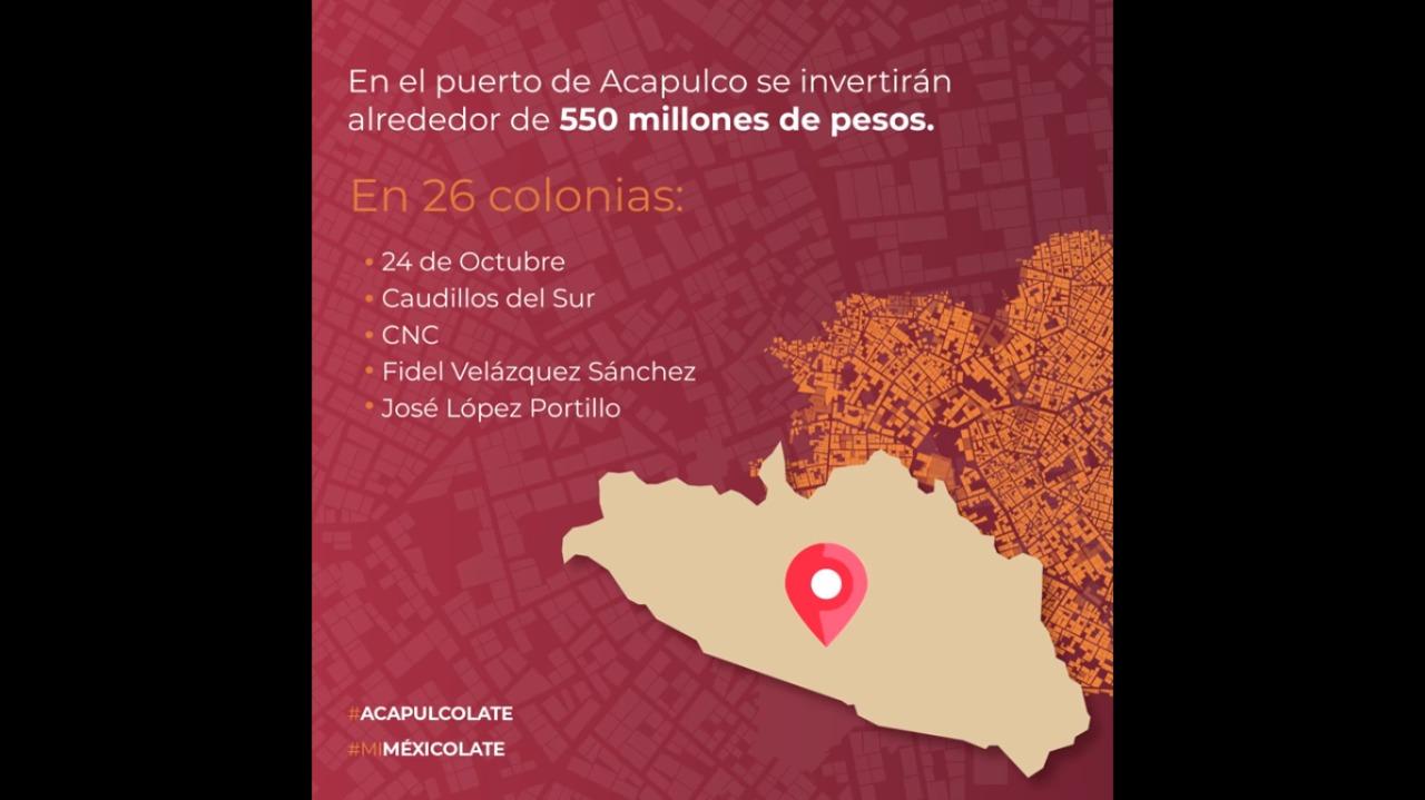 Colonias de Acapulco, beneficiadas con el Programa de #MejoramientoUrbano