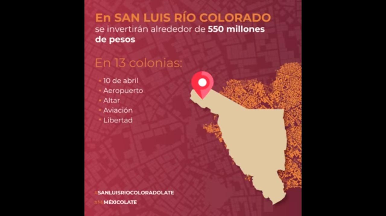 Colonias de San Luis Río Colorado, beneficiadas con el Programa de #MejoramientoUrbano