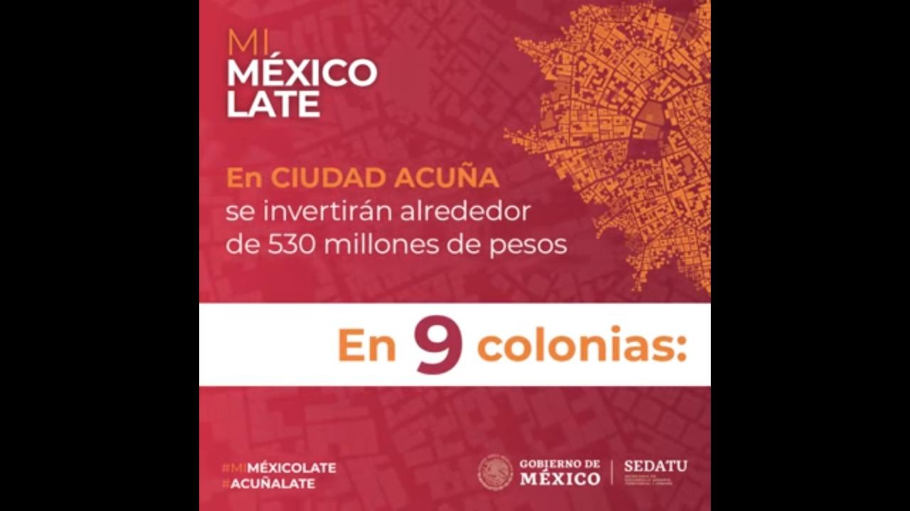 Programa de #MejoramientoUrbano en Ciudad Acuña, Coahuila