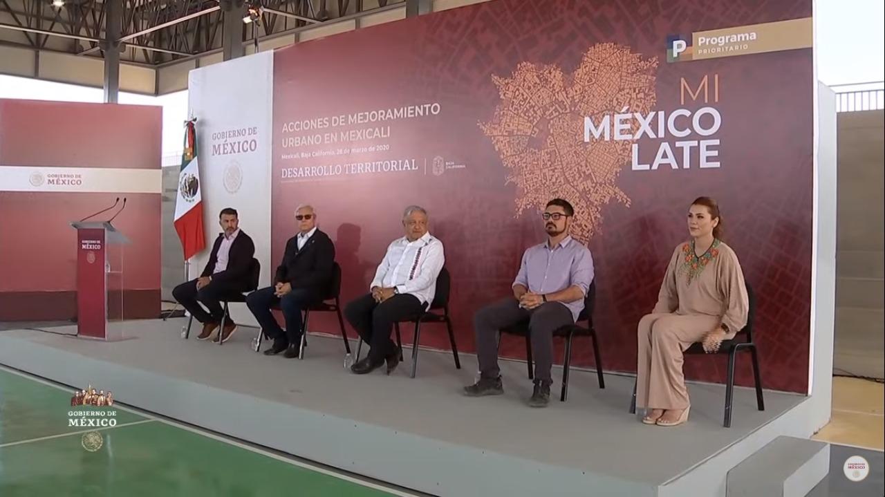 Entrega de obras de Mejoramiento Urbano en Mexicali