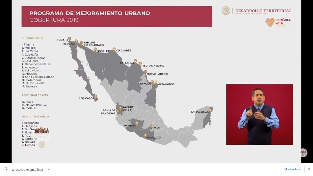 Generará Sedatu 228 mil empleos directos con estrategia emergente de mejoramiento urbano
