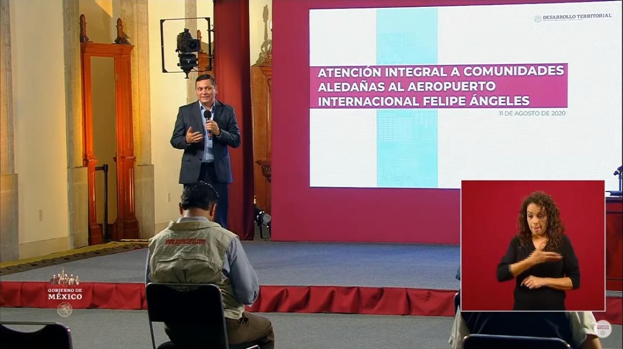 Avances en la atención de siete municipios aledaños a la construcción del Aeropuerto Internacional Felipe Ángeles (AIFA)