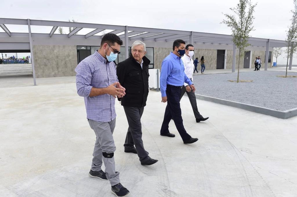 El presidente Andrés Manuel López Obrador entrega las obras realizadas en Nuevo Laredo, Tamaulipas