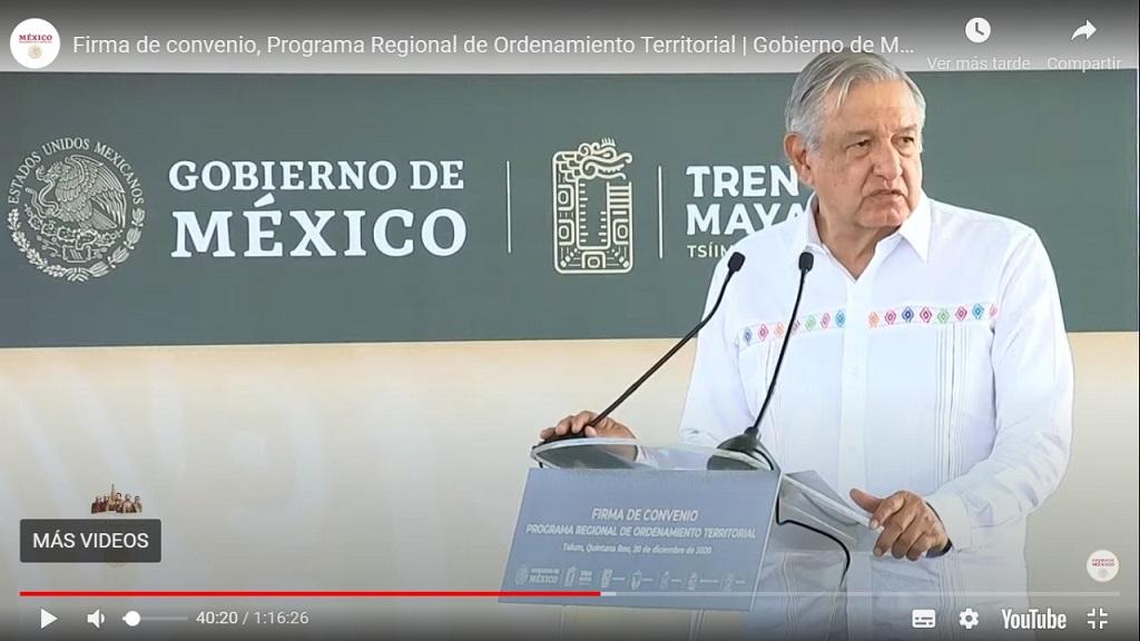 Firma de convenio para el Programa Regional de Ordenamiento Territorial en la zona del Tren Maya