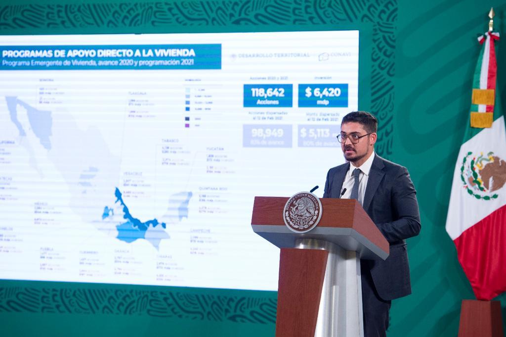Reporta Sedatu avance de 83% en dispersión de apoyos para mejoramiento o ampliación de vivienda