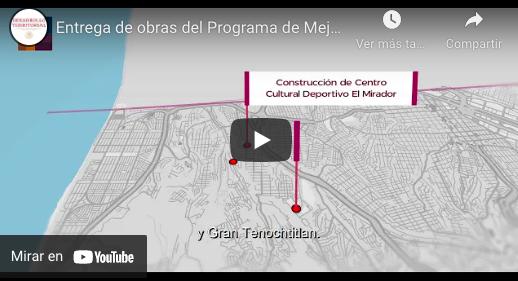 Entrega de obras del Programa de Mejoramiento Urbano en Tijuana, Baja California