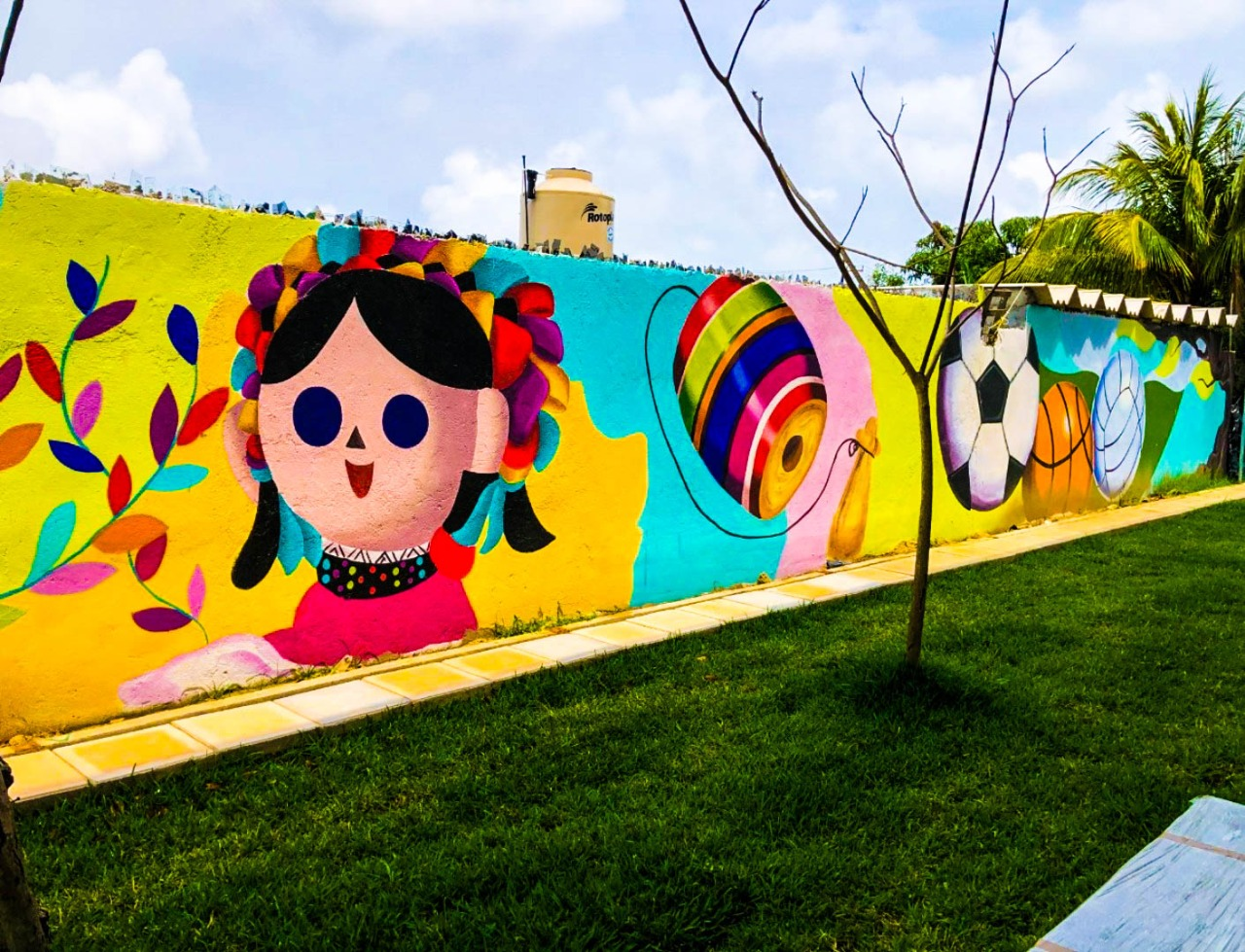 Murales comunitarios fortalecen la apropiación de espacios públicos intervenidos por la Sedatu